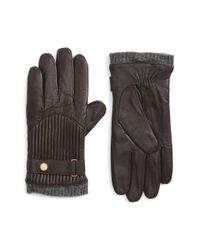 Polo Ralph Lauren Brown Leather Gloves for men