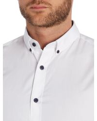 SELECTED | White Slim One Mix Luca Shirt for Men | Lyst