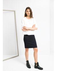 Mango - White Boxy T-Shirt - Lyst