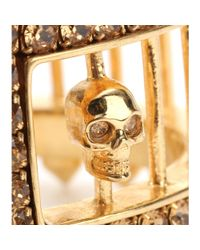 Alexander McQueen - Metallic Crystalembellished Cuff - Lyst
