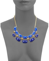 Trina Turk | Goldtone Blue Statement Necklace for Men | Lyst
