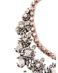 Shourouk | Metallic Piuma Faux-Pearl And Crystal Necklace | Lyst