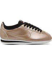 nike cortez trainers bronze