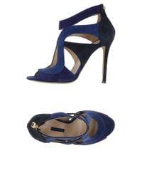 Elie Saab - Blue Sandals - Lyst
