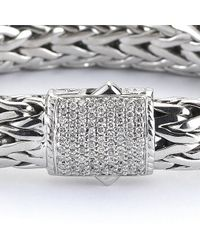 John Hardy - Multicolor Pre-Owned: Rope Bracelet With Pave Diamond Clasp - Lyst