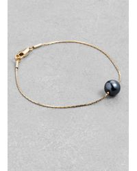 & Other Stories | Metallic Pearl Bead Bracelet | Lyst