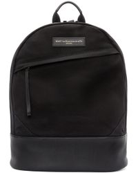 Want Les Essentiels De La Vie | Black Canvas & Leather Kastrup Backpack for Men | Lyst