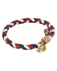 ALEX AND ANI - Blue Team Usa Braided Leather Wrap Bangle - Lyst