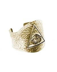 Low Luv by Erin Wasson | Metallic Evil Eye Cuff | Lyst
