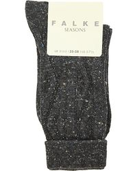 Falke | Gray Flecked Cotton-blend Socks, Women's, 3089 Anthra Mel | Lyst