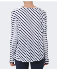 Rag & Bone - Blue Ash Striped Long Sleeved Top - Lyst