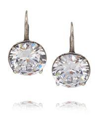 Bottega Veneta | Metallic Sterling Silver Cubic Zirconia Earrings | Lyst