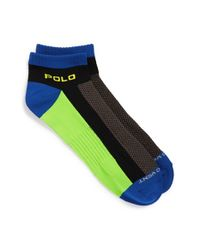 Polo Ralph Lauren | Black Low Cut Athletic Socks for Men | Lyst