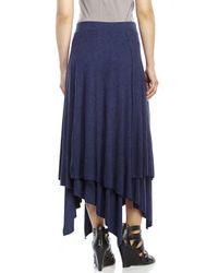 Philosophy | Blue Layered Knit Skirt | Lyst