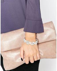 Oasis | Metallic Vintage Look Crystal Bracelet | Lyst