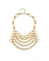 DANNIJO - Metallic Jackson Bib Necklace - Lyst