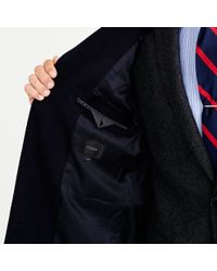 J.Crew - Blue Crosby Topcoat In Wool-cashmere for Men - Lyst