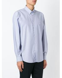 Etro - Blue Button Down Shirt for Men - Lyst
