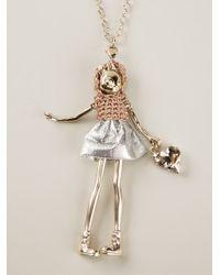Servane Gaxotte - Metallic Cat Doll Necklace - Lyst