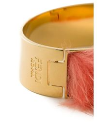 Fendi | Red Mink Fur Bangle | Lyst