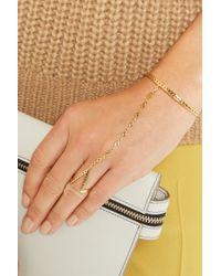 Arme De L'Amour - Metallic Gold-plated Finger Bracelet - Lyst