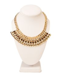Forever 21 - Metallic Bold Chain Bib Necklace - Lyst