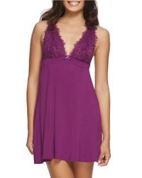 Felina | Purple Alice Lace Chemise | Lyst