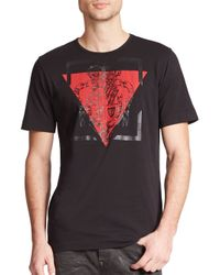 Diesel Black Gold - Black Military Crest & Triangle Print Cotton Tee for Men - Lyst