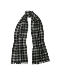 Polo Ralph Lauren | Gray Cashmere Buffalo Plaid Scarf | Lyst