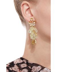 Bounkit | Multicolor Prehnite And Lemon Quartz Briolette Earrings | Lyst