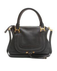 Chloé | Black Marcie Medium Leather Shoulder Bag | Lyst
