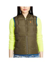 Polo Ralph Lauren - Blue Reversible Full-zip Down Vest - Lyst