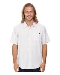 Rip Curl | White Clifton Short Sleeve Shirt for Men | Lyst