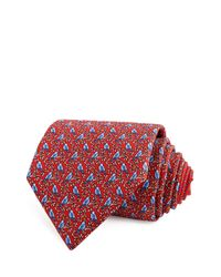 Thomas Pink | Red Bird On Branch Classic Tie for Men | Lyst
