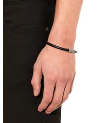 Bottega Veneta | Black Magnetic Leather Bracelet for Men | Lyst
