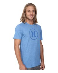 Hurley - Blue Icon Tri-blend Tee for Men - Lyst