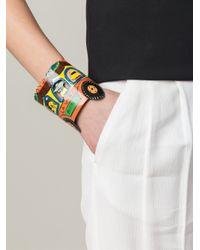 Stella Jean - Multicolor Painted Cuff Bracelet - Lyst