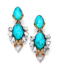 Alexis Bittar - Blue Turquoise Olmeca Clipon Earrings - Lyst