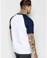 Ellesse - White T-shirt With Raglan Sleeves for Men - Lyst