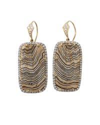 Pamela Huizenga | Yellow Fossilized Sequoia Earrings | Lyst
