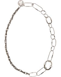 Lanvin   Metallic Gunmetal Multi_link Convertible Chain   Lyst