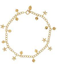 Dinny Hall - Metallic Gold Vermeil Bijou Daisy and Lotus Petal Bracelet - Lyst