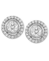 Carolee - Metallic Silver-Tone Cubic Zirconia Button Stud Earrings (2-2/5 Ct. T.W.) - Lyst