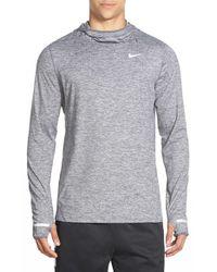 Nike - Gray 'element' Dri-fit Running Hoodie for Men - Lyst