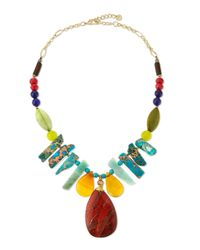Nakamol | Multicolor Turquoise Magnesite & Jasper Statement Necklace | Lyst