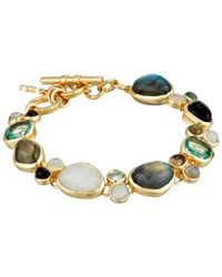 Cole Haan | Metallic Single Row Semi Precious Flex Bracelet | Lyst