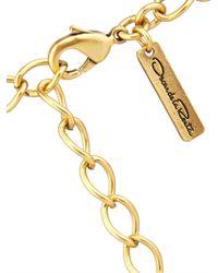 Oscar de la Renta | Metallic Swirls Double Necklace | Lyst