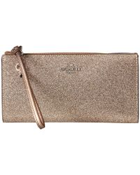 COACH | Metallic Box Program Glitter Zip Wallet | Lyst
