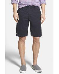 Lacoste - Blue Classic Fit Bermuda Shorts for Men - Lyst