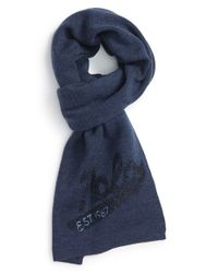 Polo Ralph Lauren | Blue Merino Wool Scarf for Men | Lyst